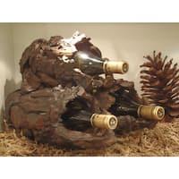 Handmade WA-0235 Drifter Three Bottle Wine Stand (Thailand)