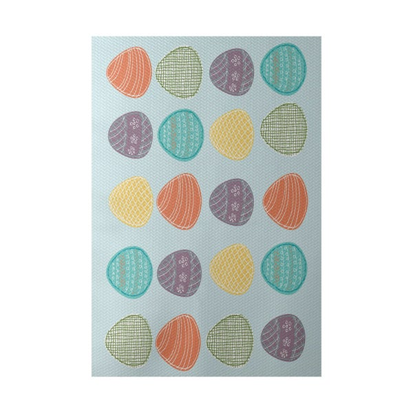 Eggs-ellent! Holiday Geometric Print Indoor, Outdoor Rug (2' x 3')