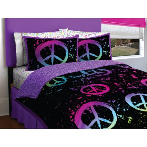 Peace Paint 7-piece Bed in a Bag Set - Multi