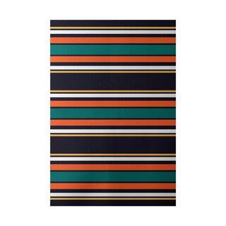 Multi-stripe Stripe Print Indoor, Outdoor Rug - 2' x 3'