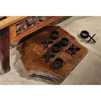 Handmade WA-0219 Teak Wood Tic-Tac-Toe Game (Thailand)