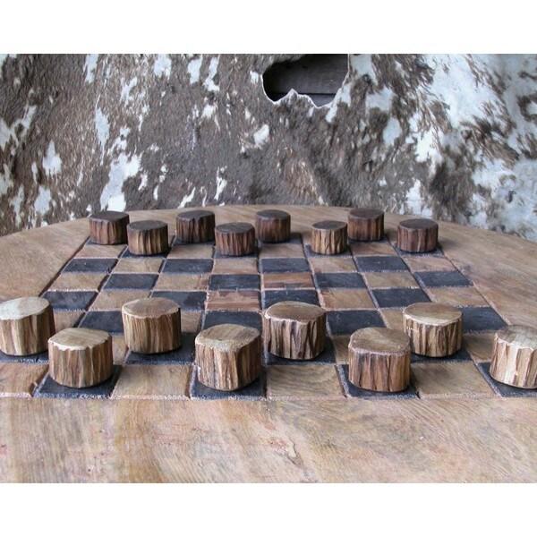 W-0872 Teak Wood Checker Set (Thailand)