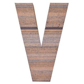 WA-0348-V Sahara Letter 'V' Wall Decor