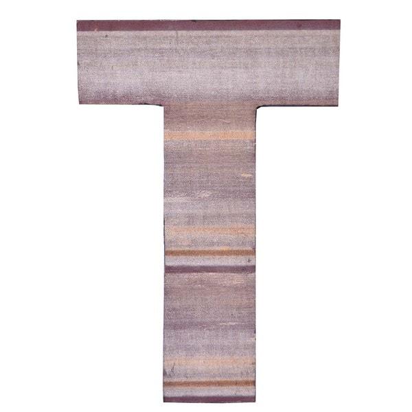 Shop WA-0348-T Sahara Letter \'T\' Wall Decor - Free Shipping On ...