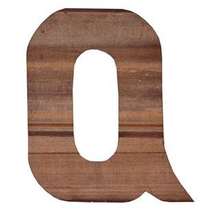 WA-0348-Q Sahara Letter 'Q' Wall Decor