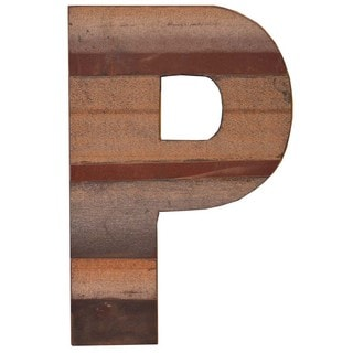 WA-0348-P Sahara Letter 'P' Wall Decor