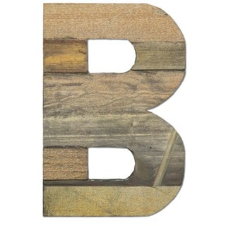 WA-0348-B Sahara Letter 'B' Wall Decor