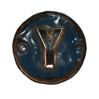 WA-0347-Y Barrel Letter 'Y' Wall Art