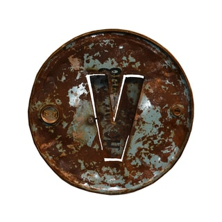 WA-0347-V Barrel Letter 'V' Wall Art
