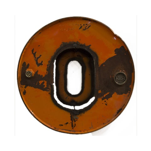 WA-0347-O Barrel Letter 'O' Wall Art