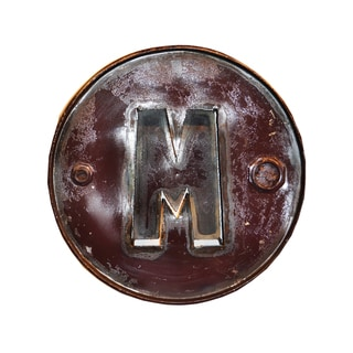 WA-0347-M Barrel Letter 'M' Wall Art