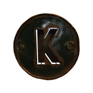 WA-0347-K Barrel Letter 'K' Wall Art