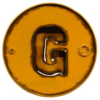 WA-0347-G Barrel Letter 'G' Wall Art