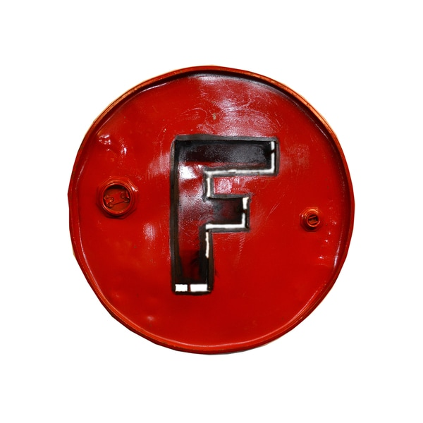 WA-0347-F Barrel Letter 'F' Wall Art (Thailand)