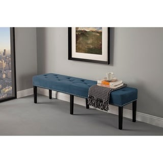 HD Couture Dark Blue Velvet King Bench