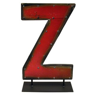 Barrel Letters on a stand Z