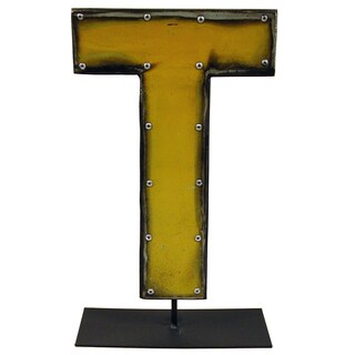 Barrel Letters on a stand T