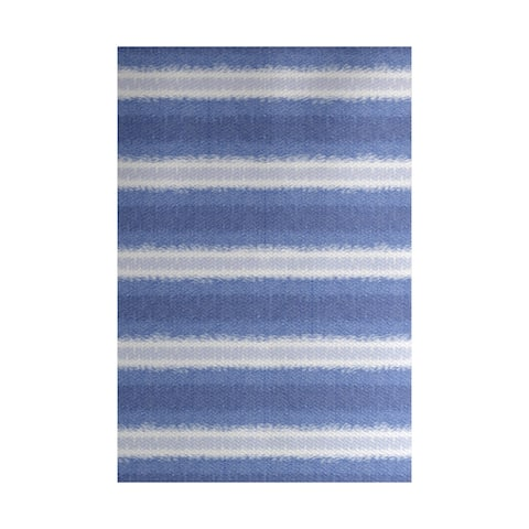 Sea Lines Stripe Print Indoor, Outdoor Rug - 2' x 3'