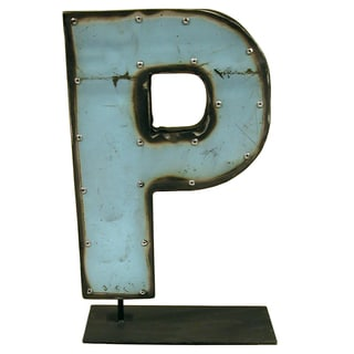 WA-0337-P Barrel Letter 'P' on a Stand