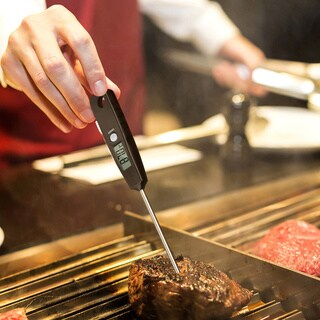 Black Metal/Plastic 5-second Long-probe Digital Meat Cooking Thermometer