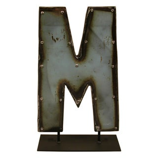 Barrel Letters on a stand M