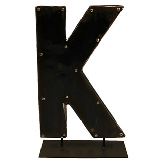 Barrel Letters on a stand K