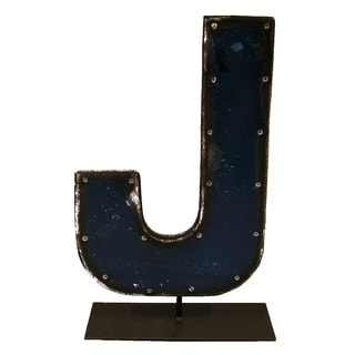 Barrel Letters on a stand J