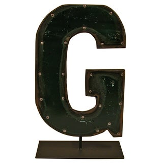 Barrel Letters on a stand G