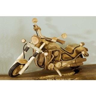 W-0774-20 Medium Wood Motorcycle (Thailand)