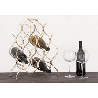 Urban Designs Anabelle 8-bottle Metal Wine Rack - 18-Inch