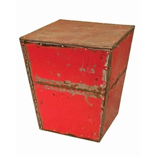 TF-1010-RE Pyramid Ruby Moonshine Side Table Stool (Thailand)