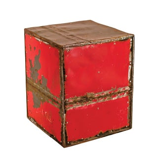 Cube Ruby Moonshine Side Table Stool (Thailand)