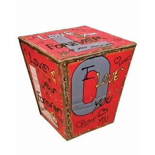 Graffiti LOVE Side Table Stool (Thailand)