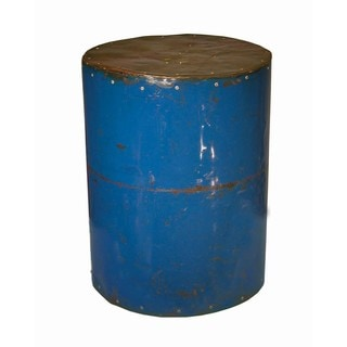 Round Cobalt Moonshine Side Table Stool (Thailand)