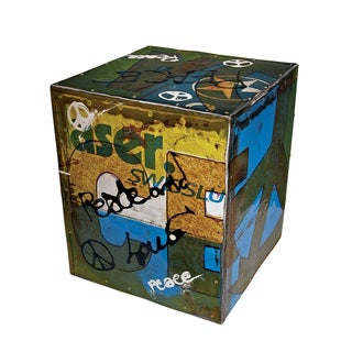 TF-1000 Graffiti PEACE Side Table Stool (Thailand)