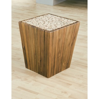 TF-0962 Eucalyptus Pyramid Side Table Stool (Thailand)