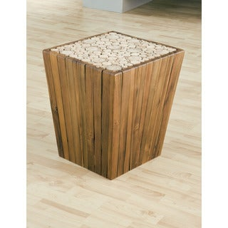 Eucalyptus Pyramid Side Table Stool (Thailand)