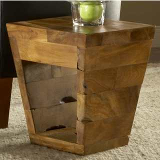 Handmade TF-0854 Taper Kodiak End Table Stool (Thailand)