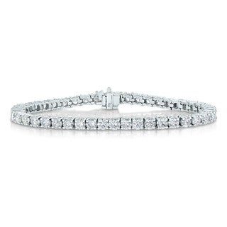 14k White Gold 3ct TDW Diamond Tennis Bracelet (I-J, I2-I3)