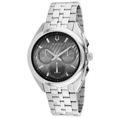 Bulova Men's 96A186 'Curv' Chronograph Stainless Steel Watch