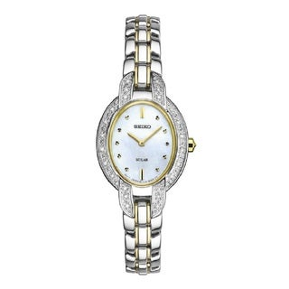 Seiko Women's SUP325 Stainless Steel and Diamond Solar Watch From the Tressia Collection