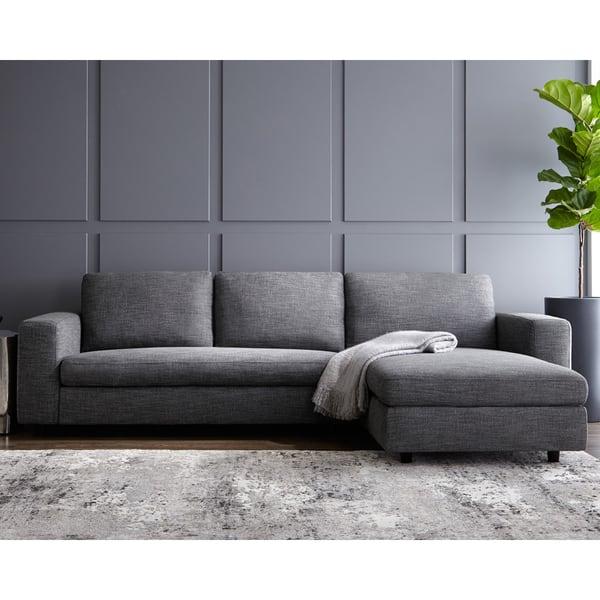 Surprising Shop Ethan Grey Sofa On Sale Free Shipping Today Uwap Interior Chair Design Uwaporg