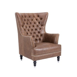 ROSEDALE ARMCHAIR - SEPIA BROWN LEATHER