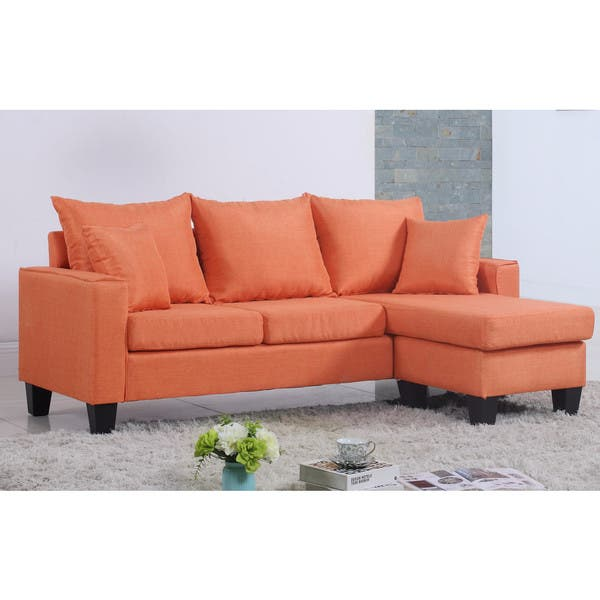 Remarkable Shop Modern Linen Fabric Small Space Sectional Sofa With Short Links Chair Design For Home Short Linksinfo