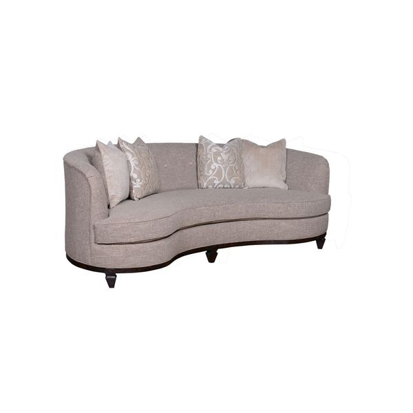 Shop Art Furniture Blair Fawn 84 Inch Kidney Sofa Free Shipping