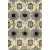 Britanny Tufted Wool Area Runner Rug - 2'6 x 8'