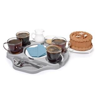 David Tutera Coffee and Tea Dessert Server Silver Scroll