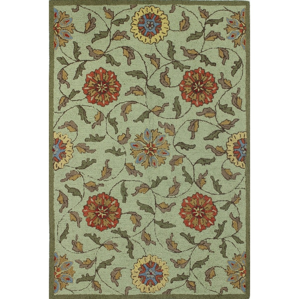 Jennifer Blue/Red/Green Cotton Tufted Area Rug - 2'6 x 8'