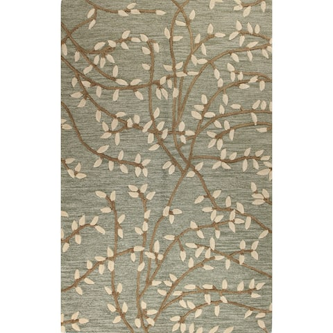 Salem Green Hand Tufted Transitional Area
