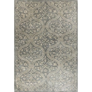 Tufted Blue Wool Dustin Area Rug (2'6 x 8') - 2'6 x 8'